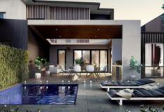 小型泳池为坎贝尔联排别墅业主提供升级选择